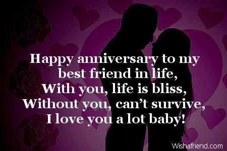 Happy anniversary to my best friend, Happy Anniversary Message