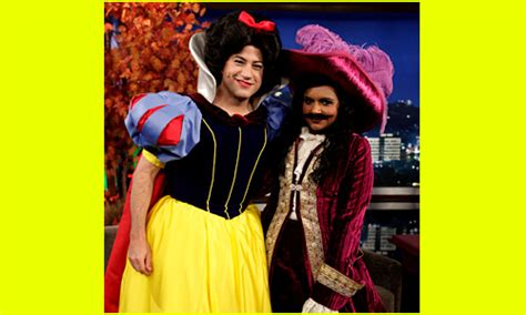 why does mindy kaling wear a wig on her show celebrity halloween costumes 2013 photo slideshow