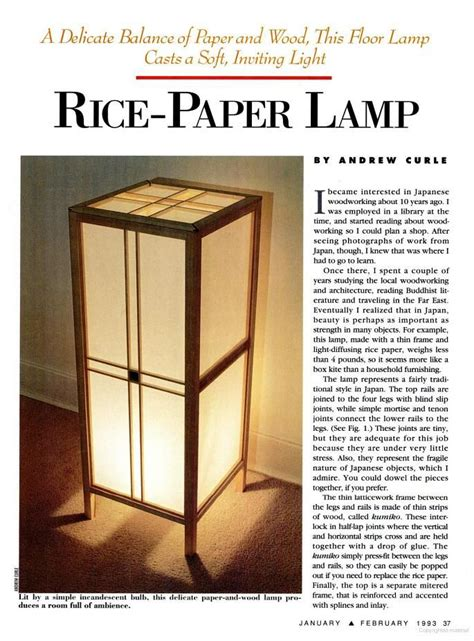rice paper lamp  tutorial lamp plans pinterest