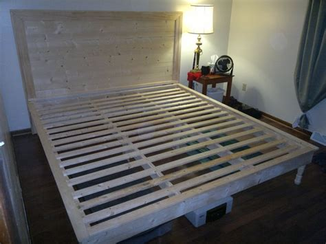 do it yourself bed frame 17 best images about diy king bed frame headboard on
