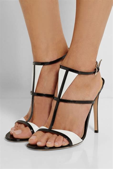 black and white shoes high heels black and white high heel sandals oasis fashion