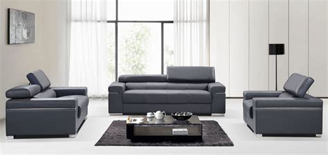 livingroom soho soho grey leather living room set