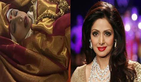 sridevi death sridevi funeral dead body pictures leaked