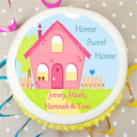 new home cake decorations cake toppers new home personalised new home cake