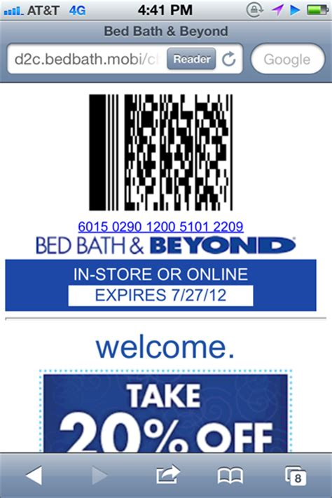 bed bath and beyond scannable coupon scannable bed bath and beyond in store coupon 2017