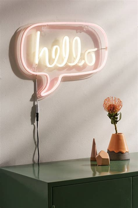 hello home decor hello neon sign home