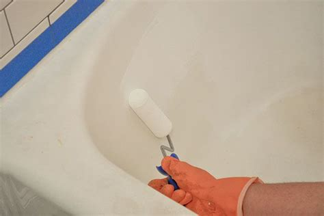 bathtub refinishing maine diy budget bathroom renovation reveal model home