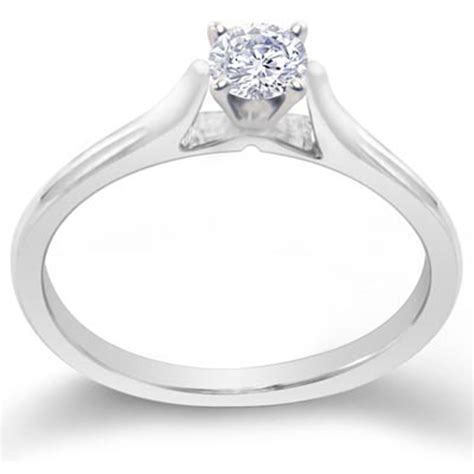 Skun Ring 1 4 14k white gold 1 4 cttw solitaire engagement ring engagement rings jewelry watches