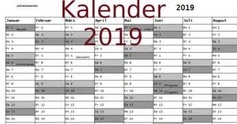 Kalender 2019 Zum Ausdrucken Kalender 2019 Freeware De