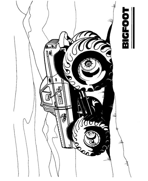Bigfoot Truck Coloring Pages free coloring pages of racing go kart