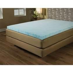 size 2 inch blue gel memory foam mattress topper