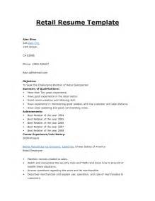 Retail Resume Objectives by Objective For Retail Resume Berathen