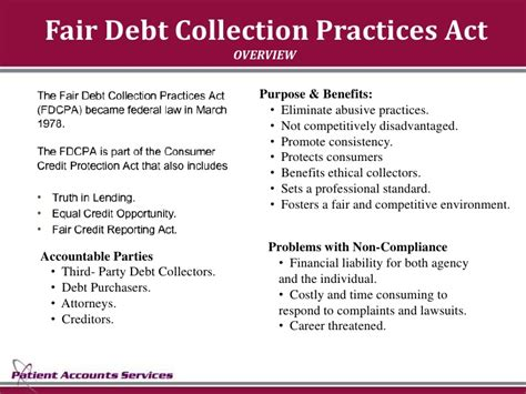 Mba Debt Collection by Patient Account Services