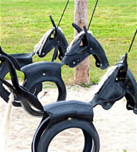 recycled tire swing horse 43 awesome upcyled diy gift ideas