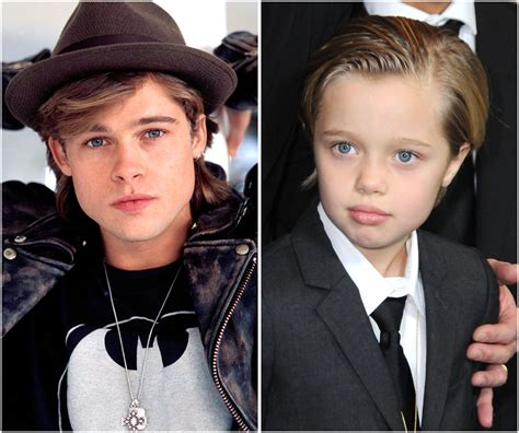 Brad Pitt And Shiloh The Most Beautiful Picture by Shiloh Pitt Is Brad Pitt S Mini Me See 10 Photos