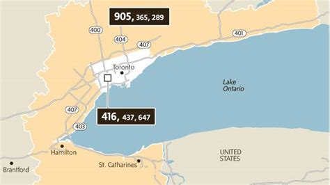 905 Area Code Lookup Twenty Years Later 905 416 Divide Continues To Define City The Globe And Mail