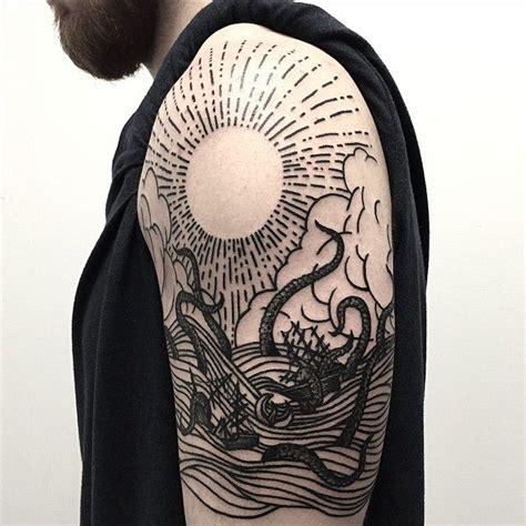 tattoo pinterest boards kraken woodcut tattoo tattoos tattooartist