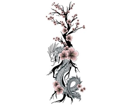 cherry blossom tattoo designs unique tribal with cherry