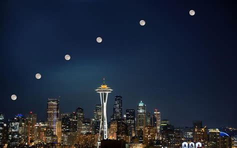 seattle city light moving hd seattle super moon city light wallpaper