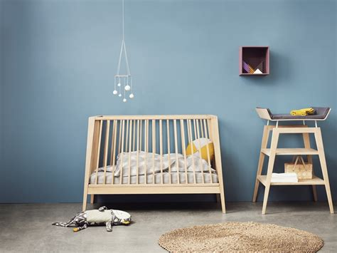 Minimalist Bed linea by leander modern baby furniture petit amp small
