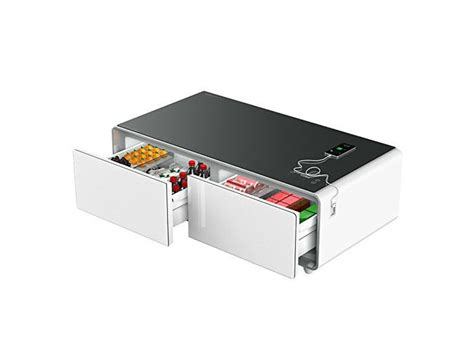 coffee table with built in refrigerator the refrigerator table is a charging station bluetooth