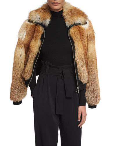 Jaket Bomber Fox fox fur jacket neiman