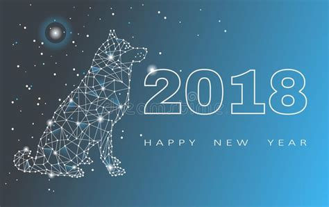new year 2018 festival 2018 happy new year greeting card celebration with