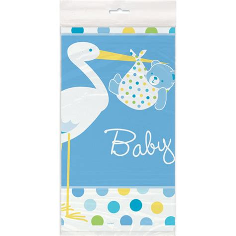 Baby Shower Stuff At Walmart by Blue Stork Baby Shower Plastic Table Cover 84 Quot X 54
