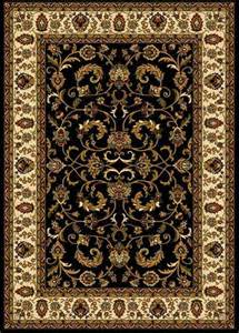 Area Rugs 6x8 Traditional Black Beige Green Floral Persian Area Rug