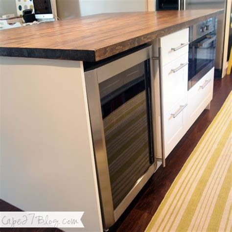 Diy Ikea Kitchen Island Diy Kitchen Island Base Is Ikea Cabinets Butcher Block From Lumber Liquidators Stained With
