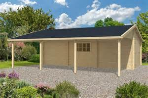 Carport Attached To Garage by Log Garage With Carport Berggren
