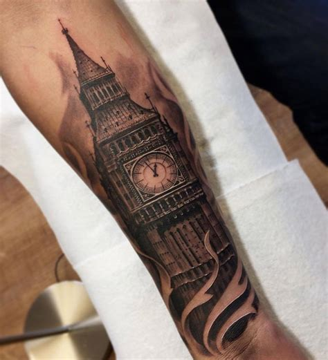 big ben forearm tattoo best tattoo design ideas