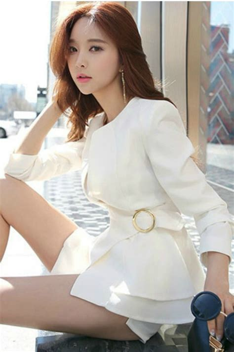 Ready Stock Import Coat 17296 blazer wanita korea with belt white blazer jyg19058white coat korea