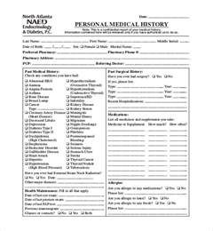 comprehensive health history template history exle pictures to pin on