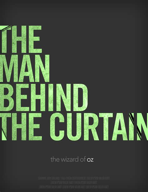wizard of oz curtain quote wizard of oz movie posters on behance