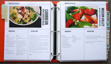 Cookbook Templates cookbook template on recipe binders recipe