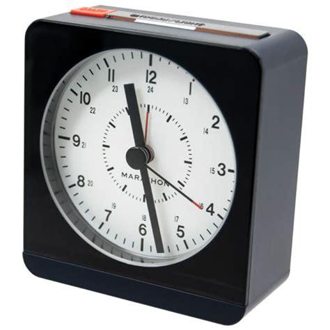 Buy Alarm Clock by Marathon Analog Desk Alarm Clock With Auto Light Cl030053bl Blue Clocks Best Buy