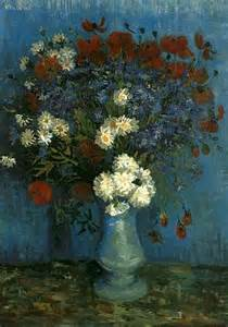vincent gogh the paintings vase with cornflowers and