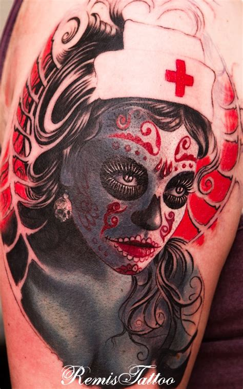 tattoo girl of the day day of the dead girl tattoo design for girls