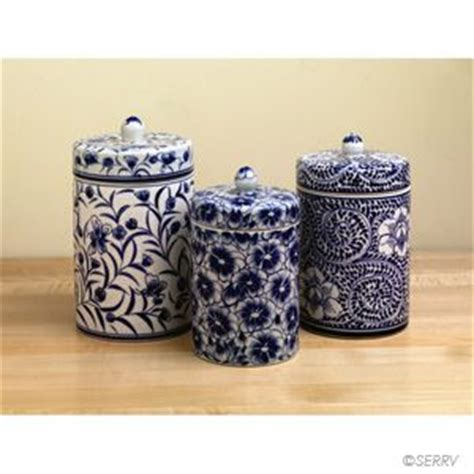 blue and white kitchen canisters wedding painted ceramics and colors for kitchens on