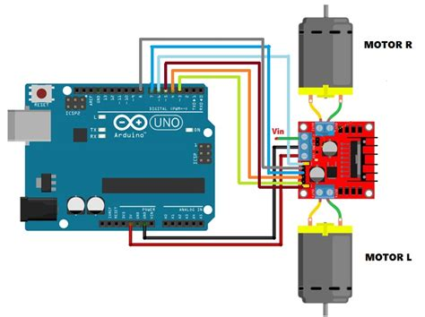 code arduino l298n 1 5 3 circuit connections part 4