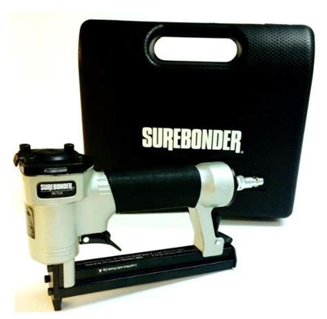 upholstery staple gun air compressor surebonder pneumatic 22g narrow crown upholstery staple