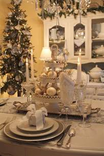 Christmas Table Setting by My Romantic Home Setting A Beautiful Table