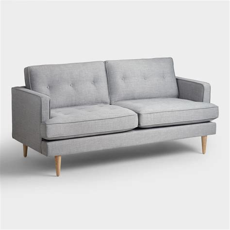 world market couch dove gray woven apel sofa world market