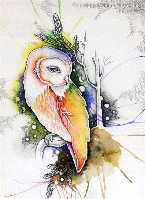 watercolor owl tutorial a barn owl original art watercolor illustration