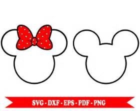 mickey mouse outline svg etsy