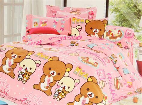 kawaii bedding new 2016 rilakkuma korilakkuma bedding set 3pc twins