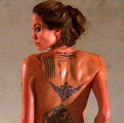 angelina jolie geographical tattoo celebrity hub angelina jolie adds twins birth