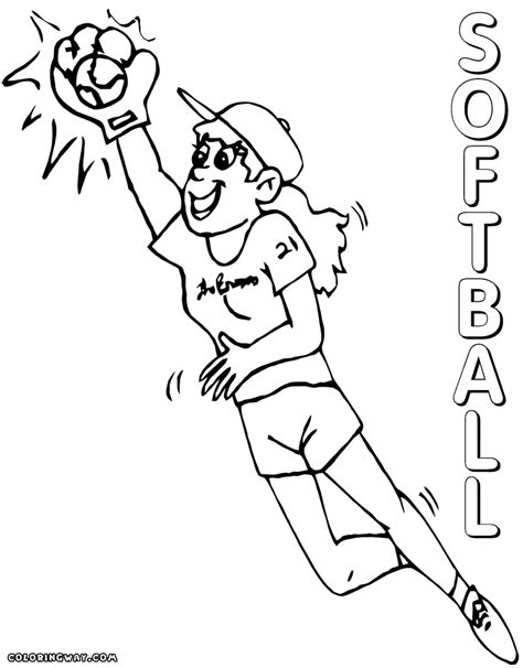 softball coloring pages coloring pages to download and print