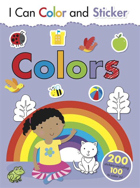 color stickers i can color and sticker colors bee books
